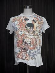 WORK品番228 風神 Tシャツ 刺青 TATTOO SIZE L