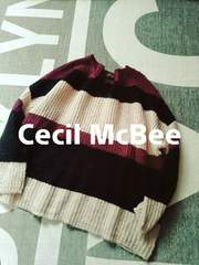 Cecil McBee BOXプルオーバーニット