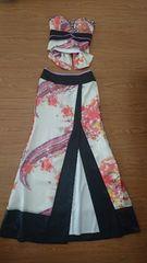 M ロングドレス Jewels 着物風 2ピース アイボリー 新品 J16330