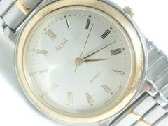 2665復活祭★SEIKOセイコー☆ALBAアルバゴールドコンビメンズ腕時計V301-6080