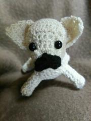 手編みのあみぐるみ、フレンチブルドック