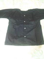 ☆新品=黒×無地=ダボシャツ140