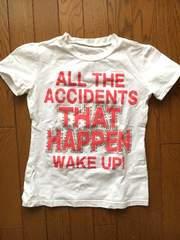 【CECIL McBEE】ショッキングピンクラインストーンロゴTシャツ