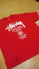 �k�`���A�� STUSSY ����5XLXXXXXL���T���  ��RED�����USA��