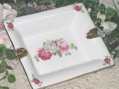 薔薇・ローズの陶器製灰皿M