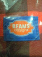 BEAMS ビームス ジョージア コラボ ボディバッグ ギンガムチェック レッド BAG 鞄