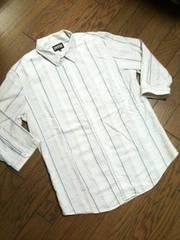 美品PPFM  7分丈ストライプシャツ ペイトンプレイス