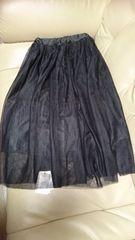 新品タグ付、GRL、Lサイズ、黒スカート