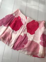 ジルスチュアート!フレアミニスカート!可愛い花柄!ピンク!