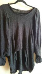 ■秋物美品グレードルマン袖裾変形ゆったりニットソー■