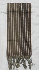 激安セール未使用新品ブラウン&濃いブラウン豪華ロングマフラー毛100%日本製
