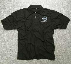 ◆送料無料◆《 NISSAN 》★ポロシャツ 半袖★BLACK �U *XL