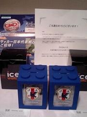 懸賞当選☆サッカー日本代表♪限定オリジナルスポーツウォッチ2コセット☆非売品