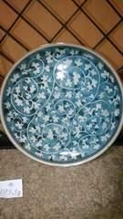 藍色花草紋様皿窯印