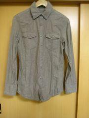 ■USED■goa・2011AW・ブラウン・スナップボタンコットンシャツ