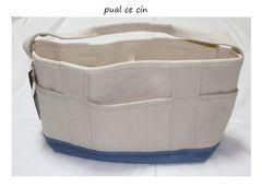 ピュアルセシン*pual ce cin帆布トートバッグ新品ブルー