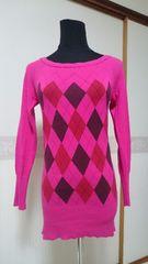 アイル柄☆セーター pink色