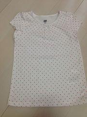 H&M*ドット柄Tシャツ*未使用 110
