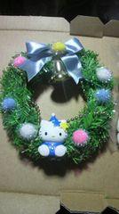 ハローキティ クリスマス ツリー装飾飾りオマケ雪だるまつけます 新品