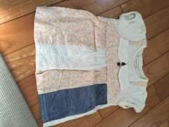 ビケット Biquette キムラタン 美品 半袖 パッチワーク 80