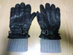 ★新品 コーチ 3in 1グローブ メンズ手袋(黒)