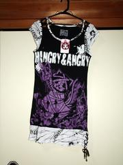 HANGRY & ANGRY★タグ付★肩編み上げロングTシャツワンピ★h.naoto
