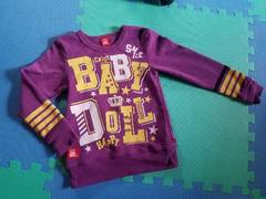 BABYDOLL☆裏起毛トレーナー☆ベビードール 紫