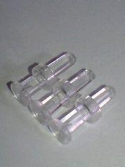 拡張にもボディピアス用透明樹脂ピアス8Gx3オマケ付