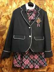新品☆女の子ゆったり160サイズ制服風スーツ卒業入学r699