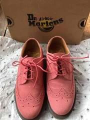 Dr.martens 4ホールUSm5 ローズピンクスウェード ウィングチップ