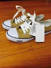 新品 運動靴  POLO   22.5cm