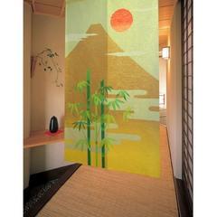 和風 のれん 竹富士 85x150 ベージュ 12788