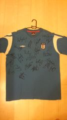 イングランド代表 23選手 サインTシャツ