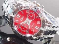 T&Hメンズ腕時計メタルウォッチ クロノデザイン