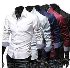 【新品】メンズ ボタンシャツ 長袖 Lサイズ ホワイト