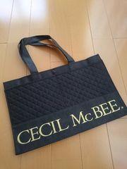 ★新品★CECILMcBEE セシルマクビー ショッパー ショ袋 布製 ブラック 大容量 レア