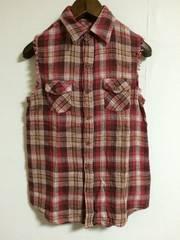 GORGE チェックノースリーブシャツ ungrid