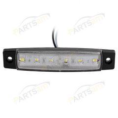 12V/24V兼用 LEDサイドマーカー 12V 角形 片側6連 白10個セット