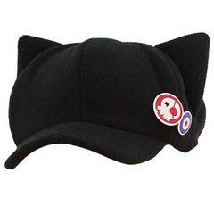 コスプレ エヴァンゲリオン アスカ 猫耳 帽子バッジ2 個