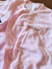 薄いピンクが可愛い長袖ロンパース肌着 60から70サイズ