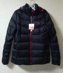 プーマ ダウンジャケット 黒×ピンク M