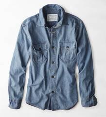 【American Eagle】Vintage AEOデニムワークウェアシャツ XL/インディゴ