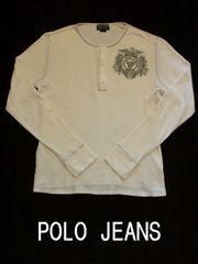 □POLO JEANS/ラルフローレン ポロジーンズ サーマル 長袖Tシャツ/メンズ・ホワイト/M