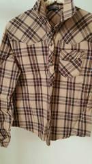 ラメライン入りチェックシャツ☆Lサイズ☆