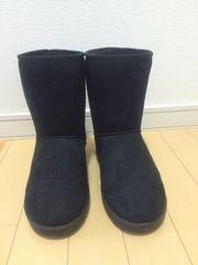 新品☆ムートンブーツ☆ブラック☆Lサイズ☆