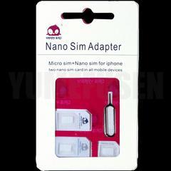 SIMフリースマホや格安SIMに nanoSIM microSIMサイズ変換アダプタとドライバー