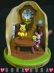 ディズニー【プーさん】可愛い♪フィギュアクロック/置時計