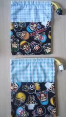 ハンドメイドコップ袋2枚組ワンピース/ONE PIECE黒