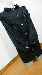 大きいサイズミリタリージャケット袖ワッペン3Lブラック