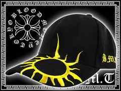 ヤクザ/オラオラ系ブランド刺繍キャップ/ヤンキーチョイ悪悪羅悪羅系帽子■12041黒1